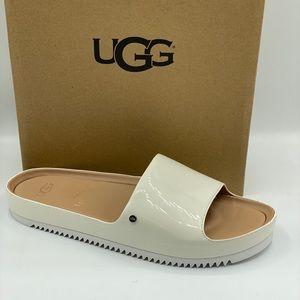 UGG Women's Jane Patent Slide White